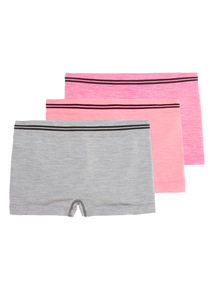 Multicoloured Seam Free Shorts 3 Pack (4 - 14 years)