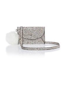 Silver Glitter Envelope Bag