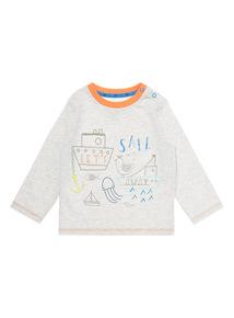 Boys Grey Sail Long Sleeve T-Shirt (0-24 months)