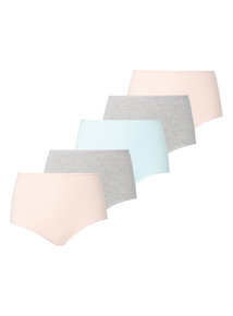 Pink Grey Marl Full Brief  5 Pack