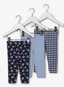Multicoloured Floral Leggings 3 Pack (0-24 months)