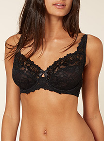 Black Comfort Lace Bra