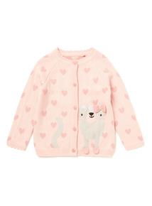 Pink Cat Cardigan (0-24 months)