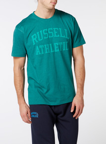 Online Exclusive Russell Athletic Green Marl Tee