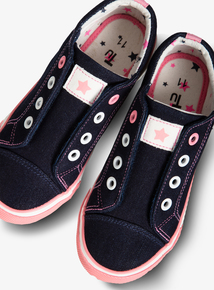 Navy Canvas Trainers (Infant 6-4 Child)