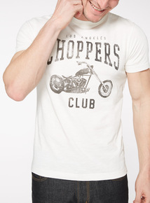 Cream La Choppers Printed T-Shirt