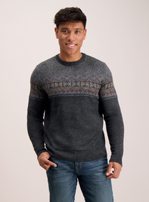Dark Grey Fairisle Jumper