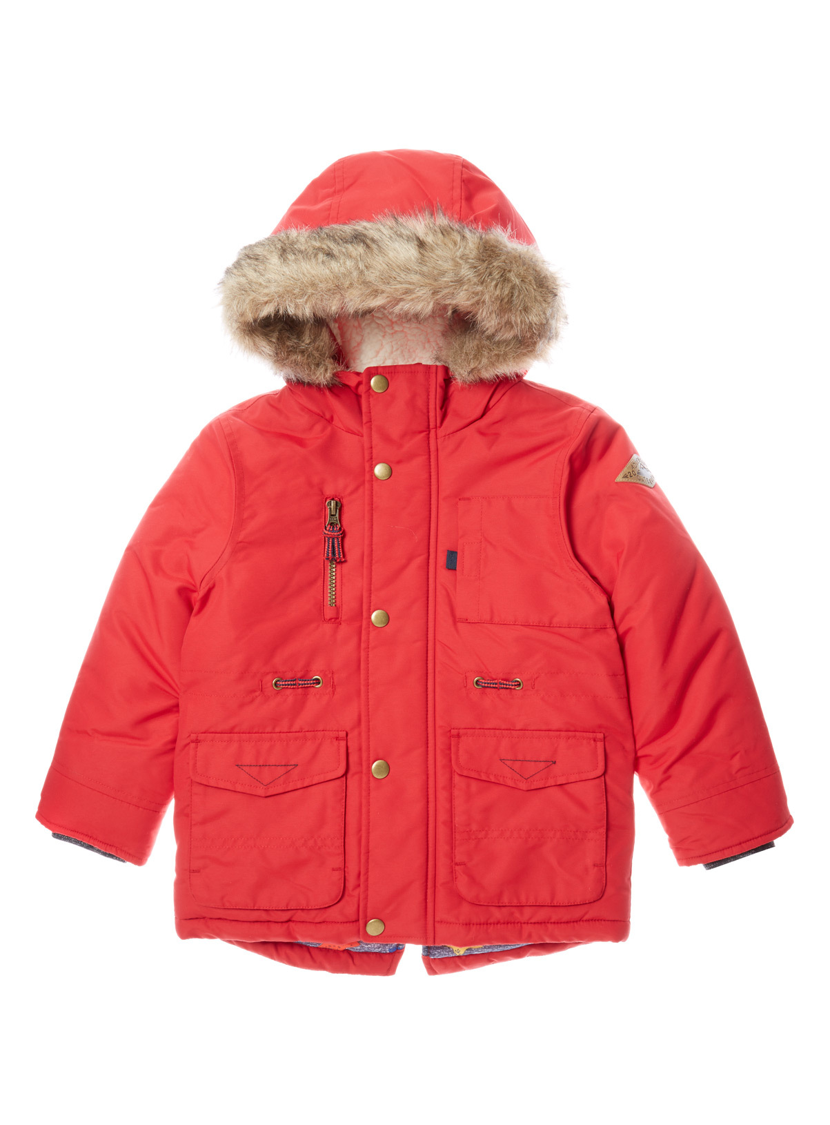 Kids Red Parka Jacket (9 months-6 years) | Tu clothing