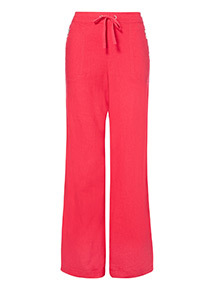 Pink Lagoon Linen Trousers