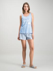 9bfcc6d490e59 Blue Sunset Beach Club Short Pyjamas