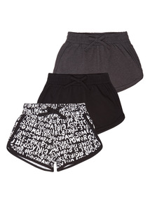 Girls Attitude Shorts 3 Pack (3 - 12 years)