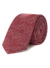 Raspberry Textured Slim Tie