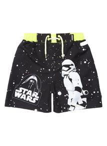 Boys Black Star Wars Swim Shorts (3 - 12 years)