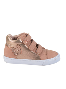 Pink Butterfly High Top Trainers (6 Infant-4 Child)