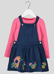 Folk Bird Pinny And T-Shirt Set (9 Months- 6 Years)
