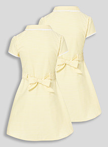 2 Pack Yellow Classic Gingham Dresses (3-12 years)