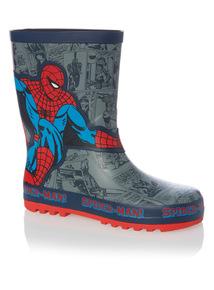 Navy Spider-Man Wellies