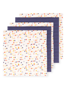 Multicoloured Muslin Squares 5 Pack