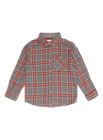 Red and Grey Tartan Check Shirt (9 months - 6 years)