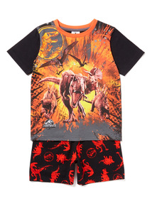 Multicoloured Jurassic World Dinosaur Pyjama Set (3-12 years)