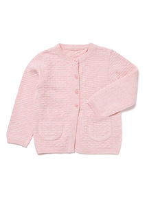 Pink Knitted Cardigan (0-24 months)