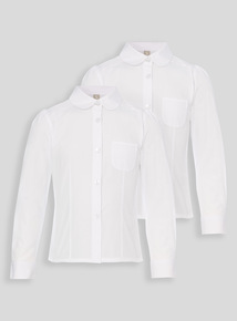 White Pleated Blouse 2 Pack (3-12 Years)