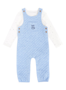 Multicoloured Jersey Dungaree And Bodysuit Set (0-12 months)