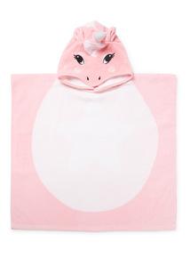 Pink Unicorn Towel Poncho