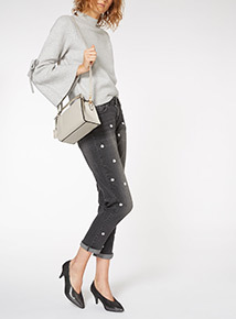 Studded Handle Party Bag