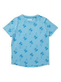 Multicoloured Palm Tree Print T-Shirt (9 months-6 years)