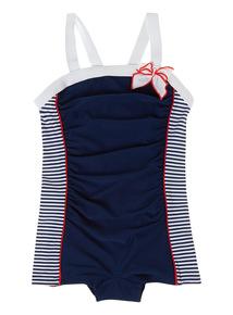 Girls Multicoloured Nautical 50's Costume (3 - 12 years)