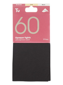 Black 60 Denier Tights 3 Pack
