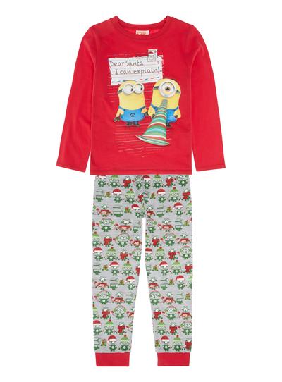 9d732e755303 Kids Boys Red Minions PJ Set (1-8 years)