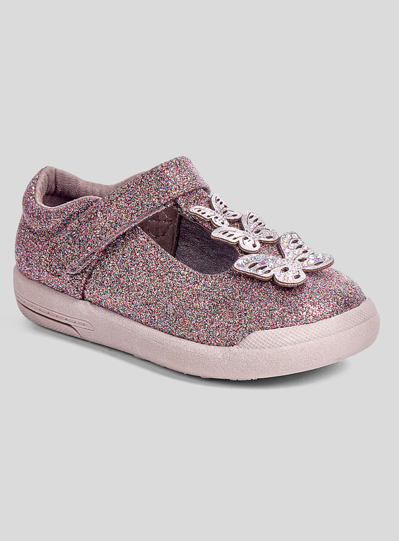 c098265f7a80 Kids Purple & Grey Glitter Butterfly Shoes (4 Infant - 12) | Tu clothing