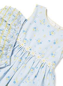 Blue Floral Dress and Knicker Set (0-24 months)