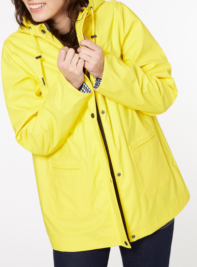 Yellow Rubber Raincoat