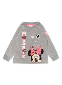 Girls Grey Minnie Mouse Sweater (9 months-6 years)