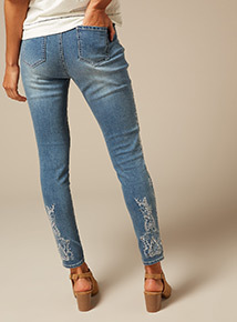 Premium Embroidered Jeans