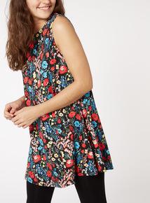 Sleeveless Floral Tunic
