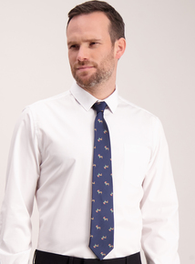 Christmas Navy Dachshund Print Tie