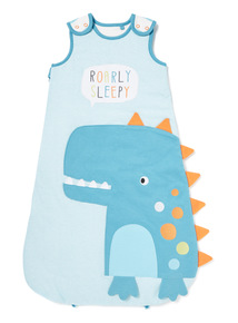 Online Exclusive Blue Dinosaur 2.5 Tog Sleep Bag (0-24 months)