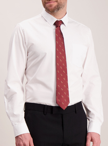 Burgundy Stag Print Tie
