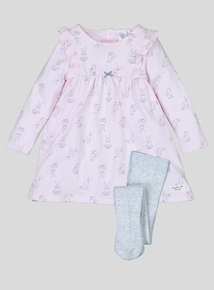 'Guess How Much I Love You' Pink Dress Set (Newborn -24 months)