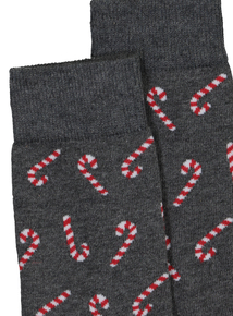 Christmas Candy Cane Novelty Socks