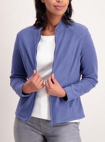 Blue Zip Up Fleece