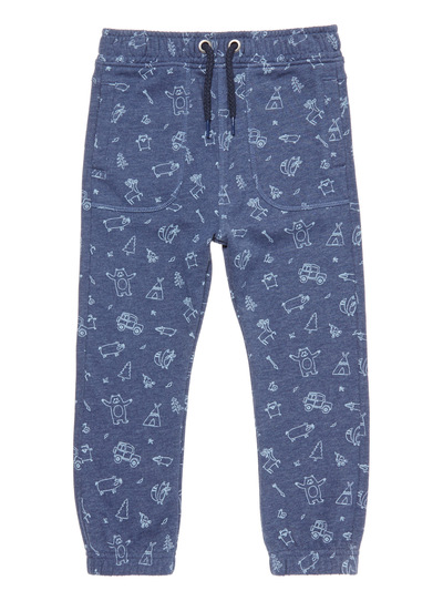 Navy Woodland Print Jogger (9 months-6 years)