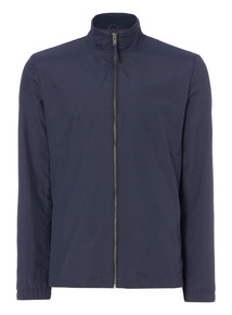 Navy Ripstop Funnel Neck Jacket