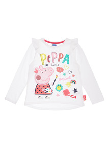 Cream Peppa Pig ABC Top (9 months-6 years)