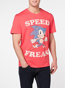 Red Sonic Tee