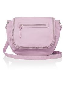 Lilac Zip Cross Body Bag